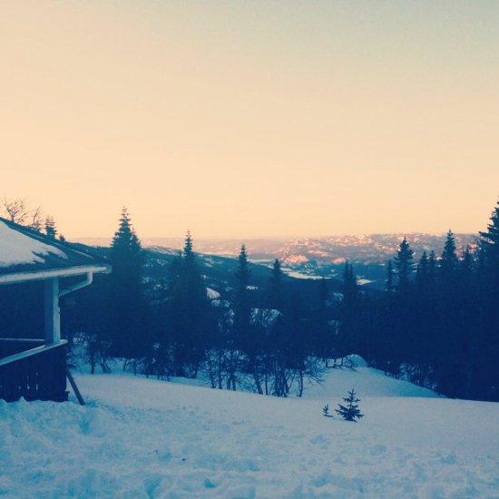 hytta utsikt vinter