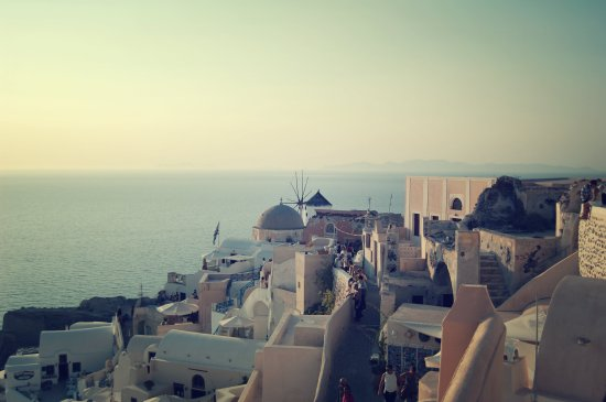 Right before sunset Oia, Santorini, Greece
