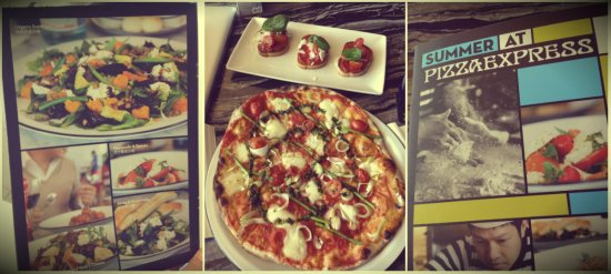 Pizza Express restaurant, Hong Kong airport