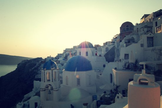 Classic view, houses, Oia, Santorini, Greece