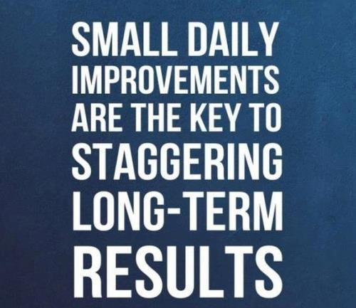 Small daily improvements key to staggering long-term results