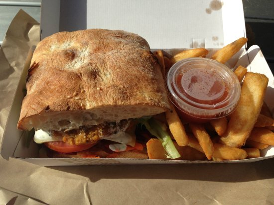 Veggie burger from Envy Café, Mooloolaba