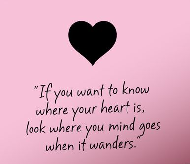 Look where your mind goes when it wanders